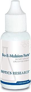 Biotics Research Bio-E-Mulsion Forte® – 1 fl. oz (30 ml), 5 Drops 30 IU Vitamin E, Emulsified, Supports Cell Function, Potent Antioxidant Supports Immune Function. Heart Health. 1 Fl Oz