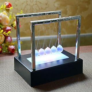 DEQUATE Colorful LED Pendulo De Newton Bola De Equilibrio, Art In Motion Toys Para Niños Adultos, Ciencia Física Psicología Kits Educativos