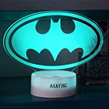 AXAYINC 3D Night Light LED Illusion Desk Table Lamp 7 Colors Change USB Cable Touch Button Christmas Birthday Gift Kids Toy