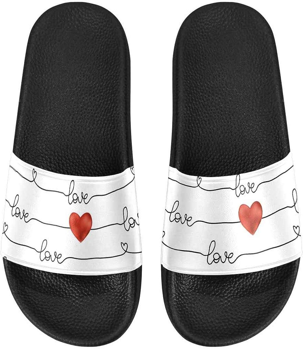 INTERESTPRINT Women's Bath Slippers Beach Outdoor Sandals 5 ☆ popular Max 58% OFF Slide