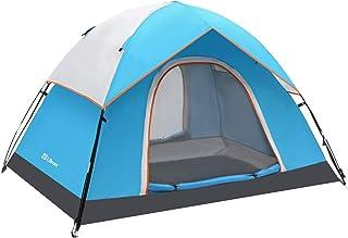 Ubon 2 personer campingtält lätt lätt att bära familjetält vattentåligt och vindtätt dubbelt lager utomhustält
