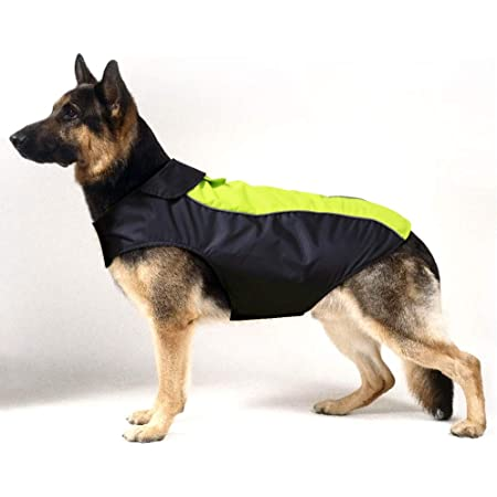 HiGuard Dog Raincoat Lightweight Waterproof Large Pet Dog Rain Jacket with Strip Reflective & Leash Hole Winter Dog Vest Warm Rain Coats Safety for Dogs and Puppies