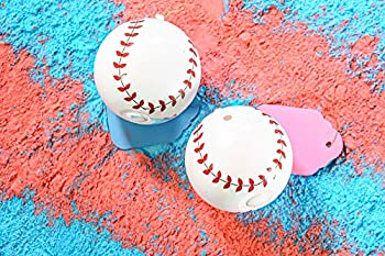 Gender Reveal Baseball Now With Even More Powder for a Bigger Puff and Beautiful Pictures A Set of 2 One Blue Powder and One Pink Powder