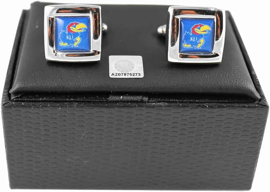 Aminco Kansas Jayhawks Square sold Ranking TOP11 out Cufflinks Gift Box Set