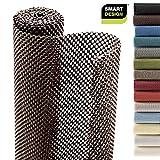 Smart Design Shelf Liner Premium Grip - (18 Inch x 8 Feet) - Drawer Cabinet Non Adhesive - Home & Kitchen [Coffee Bean]