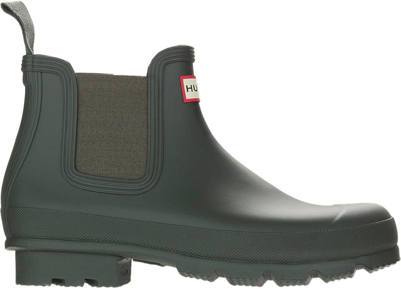 Hunter Men's Original Chelsea Boots (12 D(M) US) Dark Olive