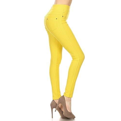 f258d7c6ccf Leggings Depot Premium Quality Jeggings Regular and Plus Soft Cotton Blend  Stretch Jean Leggings Pants w