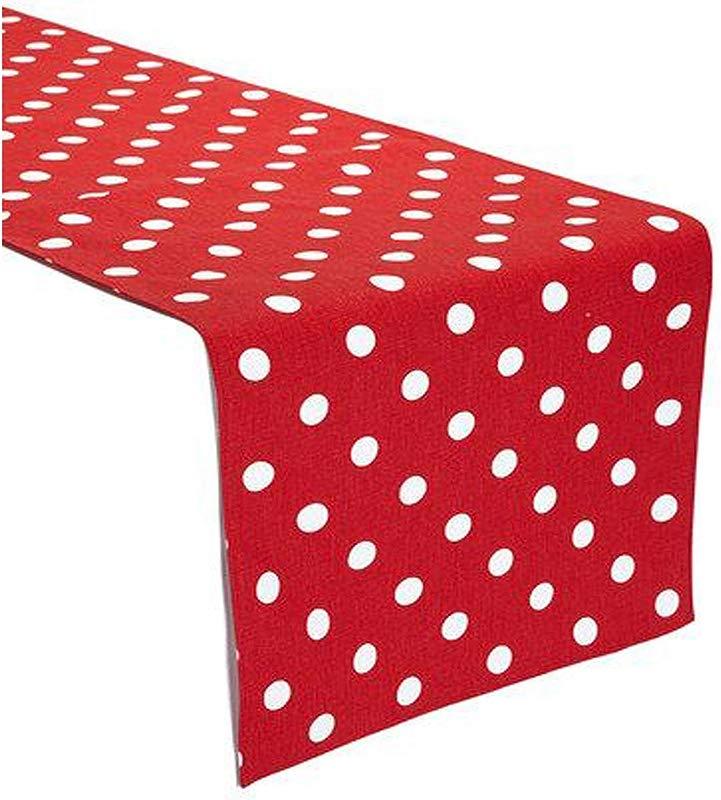 KS LINENS Red And White Polka Dot Table Runner 12 X108