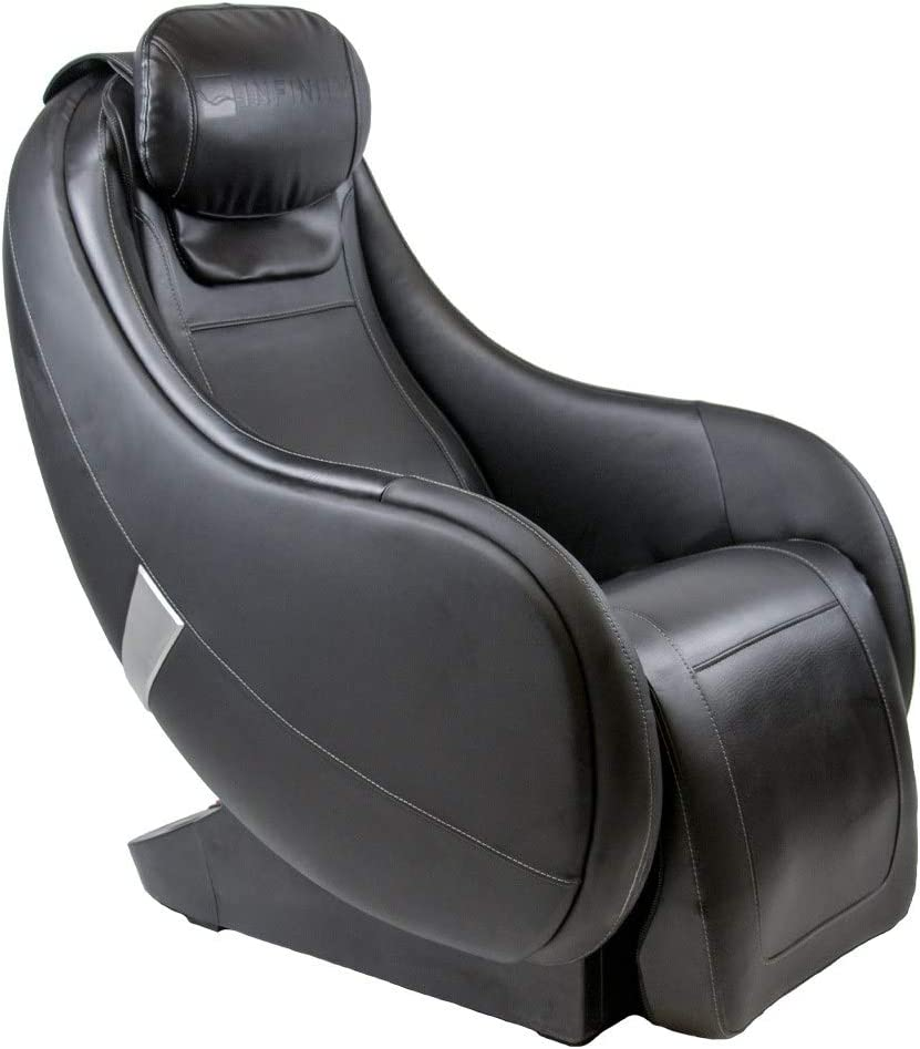 Infinity Riage CS - Compact Shiatsu Massage Chair Featuring Zero Gravity Rock and Recline, Lumbar Heat, and 4 Node Massage Robot Tapping Kneading Rolling Massage Techniques (Black)