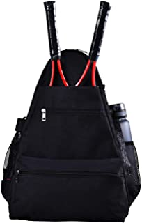 KHIKILY Tennis Bag Tennis Racket Backpack, Large Size Tennis Racket,Pickleball Paddles, Badminton Racquet, Squash Racquet, Balls Bag for Women and Men