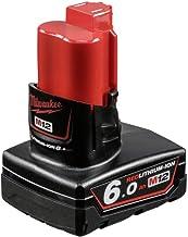 Milwaukee NIEUW M12B6 accu 12 V 6,0 Ah rood lithium-ion 4932451395