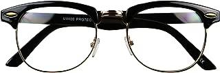 ShadyVEU Classic Half Frame Clear Lens Vintage Semi Rimless Retro Round 60's Eye Glasses