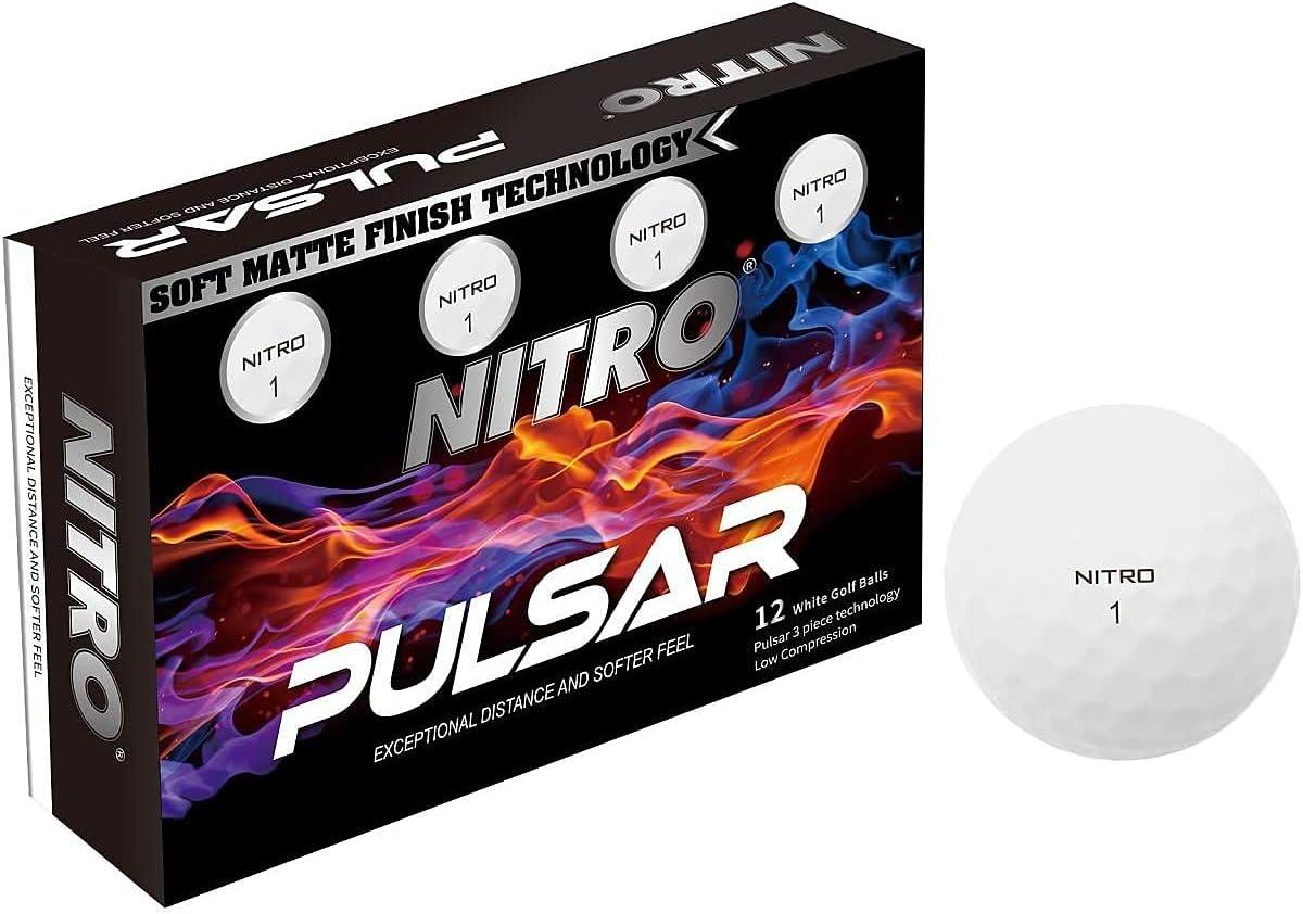 Nitro Pulsar Box 特売 Golf 12 割引 Balls Pack
