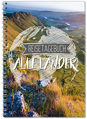 Reisetagebuch zum Selberschreiben alle Länder/Extra leichtes Notizbuch A5 Ringbuch mit 120 Seiten/Packliste, Reiseplan, Zitate, Fun Facts, Reise-Challenge - Sophies Kartenwelt