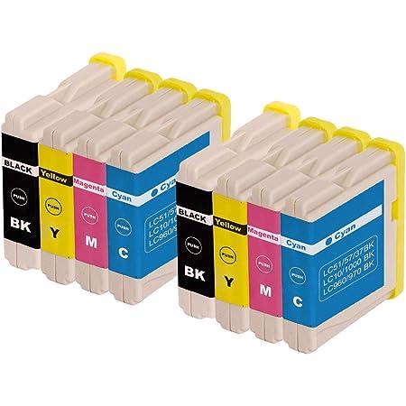 Youprint 15 Compatible Ink Cartridges Replacement For Brother Lc970 Lc1000 Dcp 4 X Lc 970bk 2 X C 2 X Lc 970y Lc 970 M Bürobedarf Schreibwaren