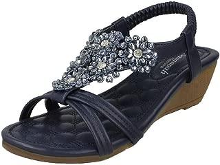 Savannah Womens/Ladies Mid Wedge Sandals