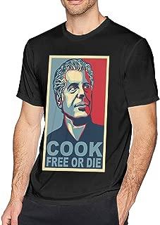 Mens Funny Anthony Bourdain Tshirts Black