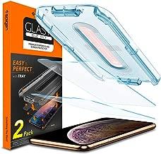 """Spigen, 2Pezzi, Vetro Temperato iPhone 11 PRO Max/XS Max (6.5""""), Ez Fit, Kit di Installazione Incluso, Durezza 9H, Pellicola iPhone 11 PRO Max (065GL25359)"""