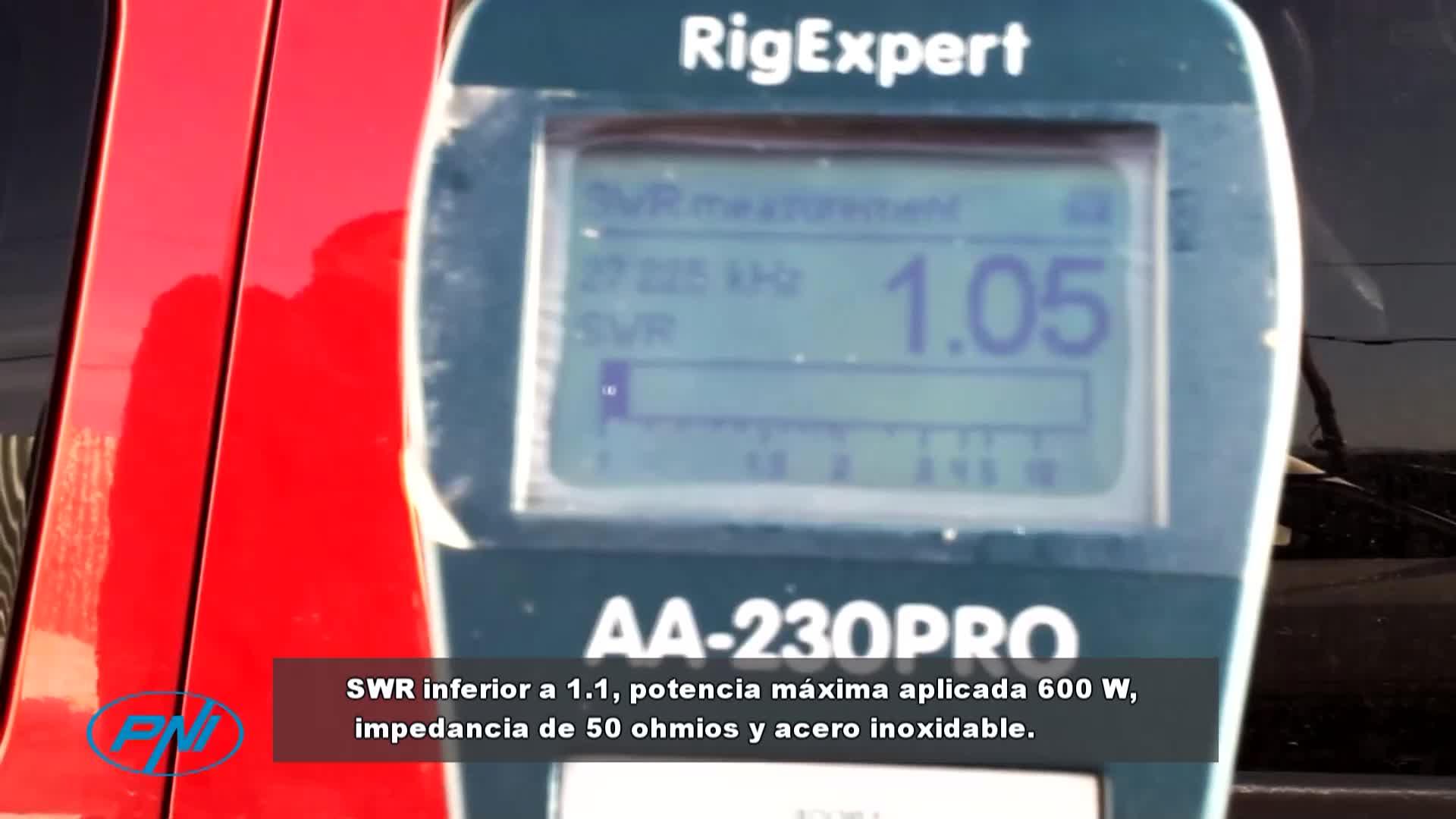 Antena CB PNI ML160 Longitud 145 cm + Soporte T941 con Cable
