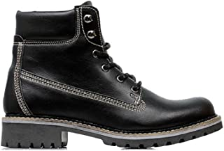 Will's Vegan Shoes Mens Dock Boots Black