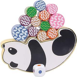 Tomaibaby 1 Set Stacking Games Toy Kids Block Stacking Toy Panda Pattern Design Building Blocks Toy for Toddlers Kids