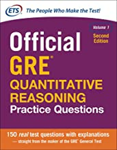 Official GRE Quantitative Reasoning Practice Questions, Second Edition, Volume 1 PDF