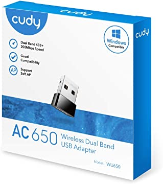 Nano Size Installazione Automatica WU150 Compatibile con Windows XP // 7//8 // 8.1//10 Cudy Adattatore WiFi USB N Wireless 150Mbps per PC con modalit/à SoftAP Mac OS 10.6~10.11