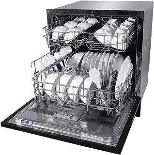 XGG Lavavajillas De Encimera Compacto - Lavavajillas Empotrado Energy Star Interior De Acero Inoxidable 304 para Oficinas PequeñAs Y Restaurante De Cocina Familiar - Negro