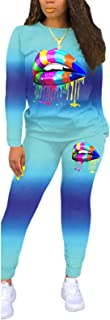 Womens Two Piece Outfits Casual Long Sleeve Splicing T-Shirt+Bodycon Pants Sweatsuits Tracksuit Sportswear Set