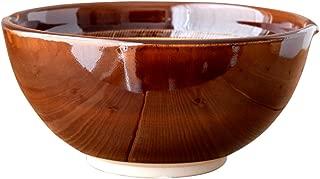 minoruba(ミノルバ)すり鉢(大) 波紋 20cm ボウル 和食器 鉢 (アメ, 948)