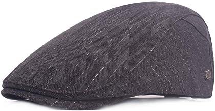 2019 Women Stripe Peaked Cap for Unisex Cotton Adjustable Flat Cap Duckbill Newsboy Hat 57-59cm (Color : 2, Size : Free Size)