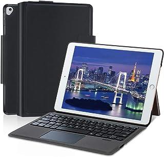 Ewin iPad9.7キーボード 保護カバー 超軽量 タッチパッド搭載 iPad保護ケース 薄型 オートスリープ スタンド機能付き bluethoothキーボード付き 1年間保証