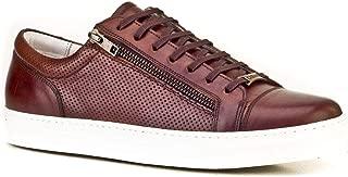 Cabani Çift Fermuarlı Bağcıklı Sneaker Erkek Ayakkabı Kahve Sanetta Deri