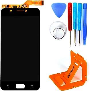 SKILIWAH® Asus Zenfone4 Max ZC520kL 交換修理用 5.2インチ 液晶LCDパネル(フロントガラスデジタイザ) タッチパネル 修理用キット 工具セット付き (ブラック)