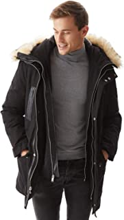 Molemsx Men's Down Jacket Winter Warm Parka Coat Thicken Puffer Jacket with Fur Hood XS-3XL