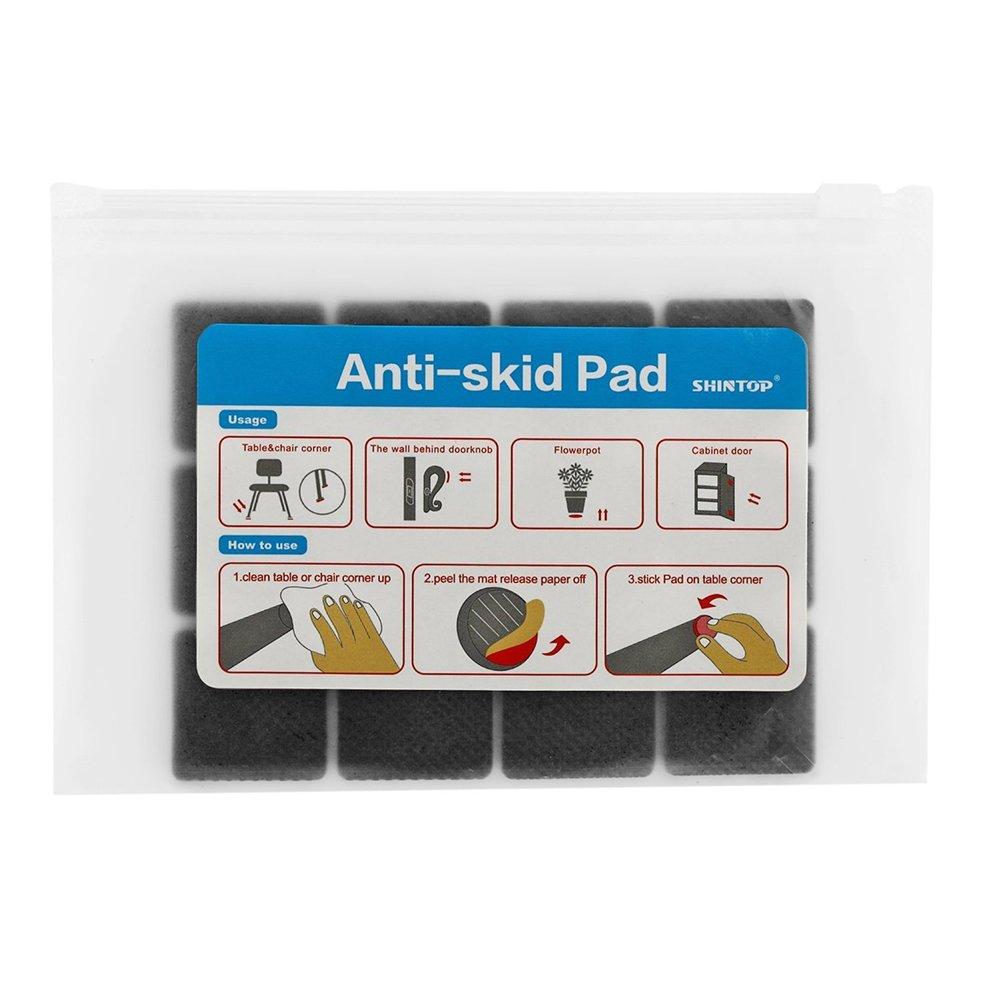 autoadhesiva para proteger suelos de madera de silicona laminados Shintop Almohadilla antideslizante para muebles ligera negro