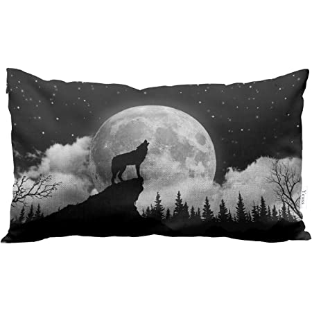 Amazon Com King Size Pillowcase Wild Wolf On Iceberg Howling Moon Custom Diy Pillowslips Roomy In Size 20 36 Inch Home Kitchen
