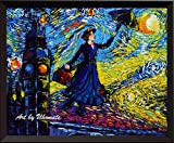 Uhomate Mary Poppins Vincent Van Gogh Sternennacht Poster