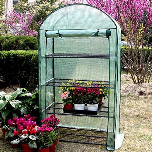 LIZIWS Greenhouse 4-stöckigen Kuppel Gewächshaus Bestehend aus verzinktem Rohr und PE-Mesh-Stoffe Geeignet for Blumen/Pflanzen, Isolierung und Regen Schutz (Color : A)