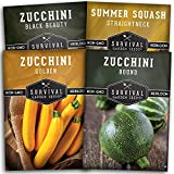Survival Garden Seeds Zucchini & Squash Collection Seed Vault -...