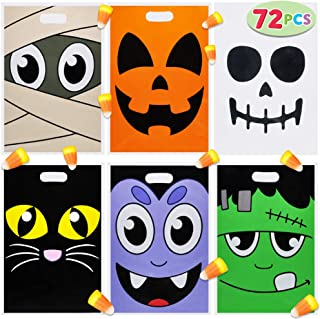 Pack of 72 Halloween Trick or Treat Bags for Trick-or-Treating, Halloween Party Favors, Halloween Snacks, Event Party Favor Supplies, Halloween Goodie Bags, Classroom Giveaway Goody Bags.