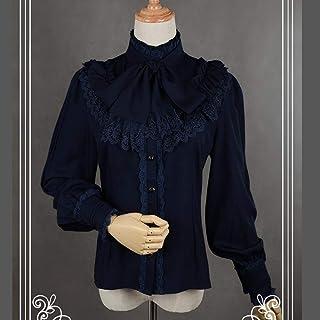 Vintage Women's Lolita Shirt Gothic Chiffon Ruffle Blouse Long Sleeve Blusas Clubwear Party Urlaub Einkaufen Alltag usw