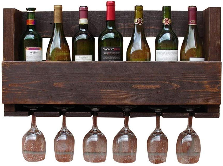 estilo clásico CAI-1 Bar Wine Wine Wine Rack Wall Racks Soporte de Cocina 70x33x12cm  ofreciendo 100%