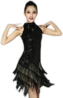 Sequin Fringe Great Gatsby Flapper Dresses Halloween in The 1920's