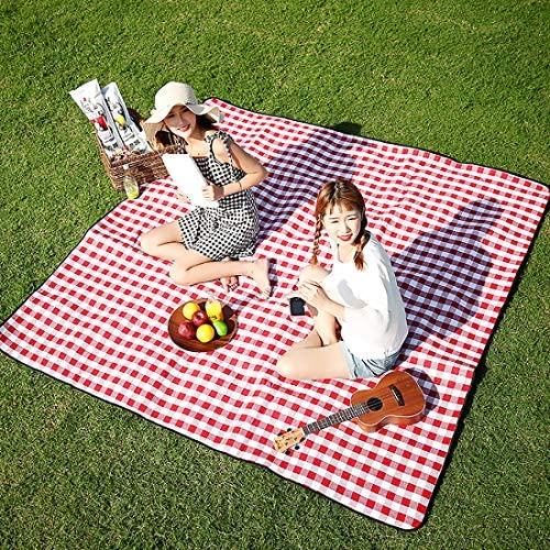Three Donkeys Extra Large Picnic Blankets 79 x79 Checkered Picnic Blanket Great for The Beach product image