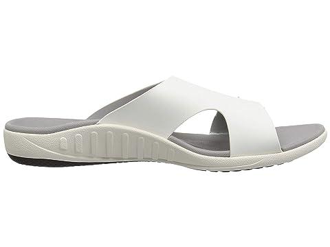 Slide Mist BlackLight Spenco Sandal Brighton TaupeWhite Twqa5a7