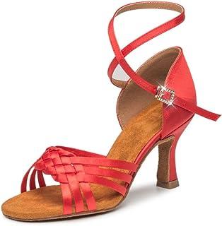 239aa8f2 GUOSHIJITUAN Señoras Zapatos De Baile Latino,Fondo Blando Zapatos De Salón  De Baile De Mujer
