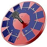 AISITIN Fuente Solar para Estanque, 3.0W Bomba de Agua Solar Red, Batería Incorporada, Solar Fuente...