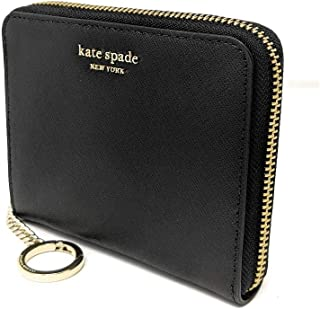Kate Spade New York Small Slim Continental Cameron Leather Wallet Black