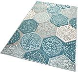 Balta Rugs In- und Outdoor-Teppich Classic Hexagon Tiles Green M 120x170cm für Innen und Außen